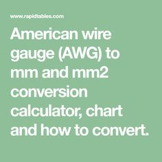 Inches to millimeters in to mm conversion calculator and how to american wire gauge awg to mm and mm2 conversion calculator chart and how greentooth Images