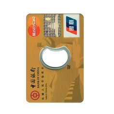 Credit Card Bottle Opener - Trade Show Giveaways With a convenient, credit card shaped design, a personalized Credit Card Bottle Opener fits easily into wallets, pockets and purses, and a stainless steel ...
