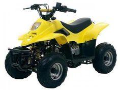 Quadriciclo Bull Motors BK ATV504 - à Gasolina à Óleo 50cc Amarelo