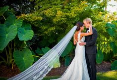 """Virginia & Julian. Wedding gown """"Lindsay"""" by Marisa. Photography by Corey Potter"""