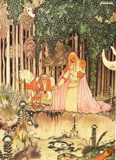 """Kay Nielsen was a Danish illustrator, popular in the early century, the """"golden age of illustration"""". Kay Nielsen, Old Illustrations, Children's Book Illustration, Botanical Illustration, Fairy Tale Illustrations, Digital Illustration, Arthur Rackham, Tattoo Creative, Harry Clarke"""
