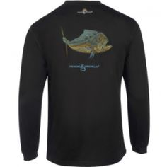 Men's Dolphin Embroidery L/S UV Fishing T-Shirt