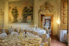#Tuscany 13th century #Castle indoor #weddingbreakfast  www.italianstyleweddings.co.uk