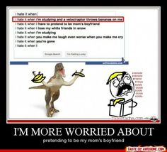 Actually think the velociraptor one is the funniest
