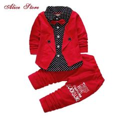 2017 Baby Boys Autumn Casual Clothing Set Baby Kids Button Letter Bow Clothing Sets Babe jacket + pant Suit Set - Kid Shop Global - Kids & Baby Shop Online - baby & kids clothing, toys for baby & kid Baby Outfits, Toddler Boy Outfits, Casual Suit, Casual Fall, Casual Outfits, Baby Set, Pants Outfit, Outfit Sets, Suit Pants