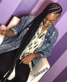 Women enjoy wearing box braids because these braids not only allow them to extend the length of their hair, but they can also wear different hairstyles with box braids. Although these styles look v… Black Girl Braids, Braids For Short Hair, Girls Braids, Dope Hairstyles, Box Braids Hairstyles, Black Girls Hairstyles, Natural Hair Styles, Short Hair Styles, Braid Styles