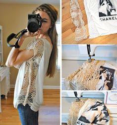 Trash To Couture: DIY. Crochet Trim Seam