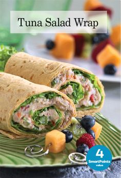 You just can't beat a classic tuna salad when it's time for lunch. Rolled up in a wholegrain flatbread with some lettuce, it makes a fun and satisfying midday meal. Your favorite tuna salad will do, or make our extra-light version here, at only 4 Weight Watchers® SmartPoints® per serving. Kick it old school, tuna …