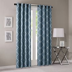 Madison Park Saratoga Fretwork Print Window Curtain Blue ... https://www.amazon.com/dp/B00XN45B9U/ref=cm_sw_r_pi_dp_x_-CsCyb6JD3PB7