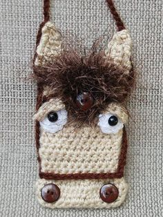 Crochet Horse Case for phone camera credit cards by texastygr