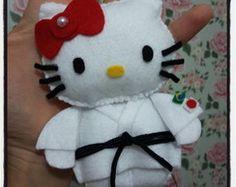 Chaveiro Hello Kitty em Feltro