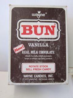 Vintage Bun Candy Bar Box | eBay