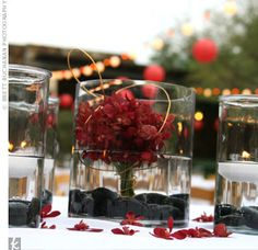 river lights centerpieces - Google Search