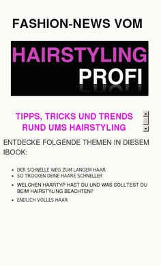 HAIRSTYLING-PROFI NEWS Tipps, Tricks und Trends rund ums Hairstyling - made with simplebooklet.com