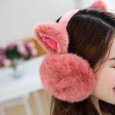 Chocolate Biscuits Bottle Ice Cream Winter Earmuffs Ear Warmers Faux Fur Foldable Plush Outdoor Gift