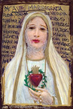 Virgin Mary Stretched Canvas