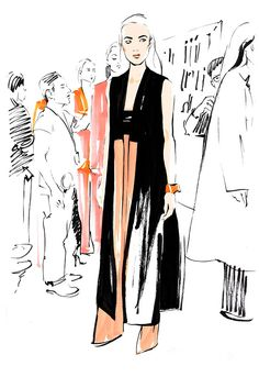 Alain Lavdovsky #nyfw #fashionillustration #artluxedesigns