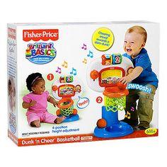 Fisher-Price Brilliant Basics Dunk 'n Cheer Basketball