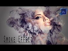 Smoke effect in Photoshop/Photoshop tutorial Photoshop Website, Free Photoshop, Photoshop Design, Photoshop Elements, Photoshop Actions, Photoshop Ideas, Lightroom, Photoshop Youtube, Photoshop Tutorial
