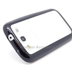 Click Image to Browse: $6.95 Black Clear Softgrip Hard Hybrid Gel Case For Samsung Galaxy S3 i9300, i747