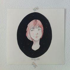Ilustración original. Tinta china y acuarelas. 27x27 cm.