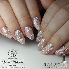 Installation of acrylic or gel nails - My Nails Matte Nails, Pink Nails, My Nails, Hair And Nails, Bride Nails, Wedding Nails, Beauty Nail, Nail Mania, Classic Nails