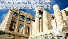 women's-packing-list-in-europe-athens-greece