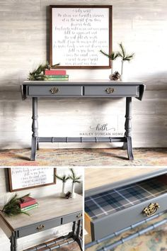 Beautiful drop leaf table that can be used so many places, from an entryway table to a TV stand! The drop leaf sides add to the charm, and also give it some extra space! #furnituremakeover #paintedfurniture