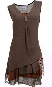 NWT-Pretty-Angel-Clothing-Apparel-Two-Piece-Knit-Top-Tunic-In-Coffee-69802