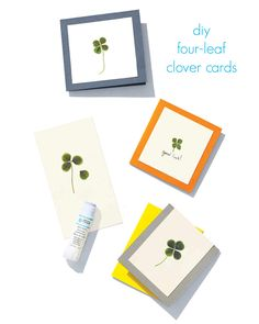 Send family and friends a lucky note with these homemade St. Patrick's Day cards.