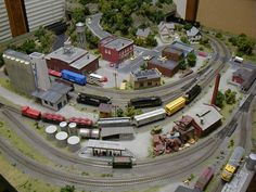 train tables for adults | gauge layout