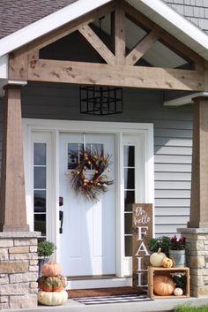 56 Rustic Farmhouse Front Porch Decorating Ideas You Will Love It . 56 Rustic Farmhouse Front Porch Decorating Ideas You Will Love It Front Porch Addition, Front Porch Design, Porch Designs, House Porch Design, Small Front Porches, Farmhouse Front Porches, Rustic Farmhouse, Craftsman Front Porches, Front Porch Remodel