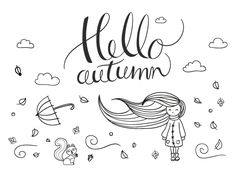 Chalk pen window drawing Autumn – Illustration - All About Decoration