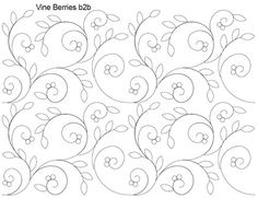 AnneBright.com - Shop | Category: Digitized Designs | Product: Vine Berries b2b Swirly leaves and berries