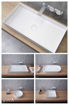 Replace rounded turns with sharper lines for a brighter and sharper look in your bathroom with Memoria washbasins!