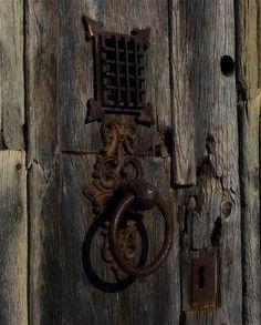Rusted Wrought Iron Door Knocker