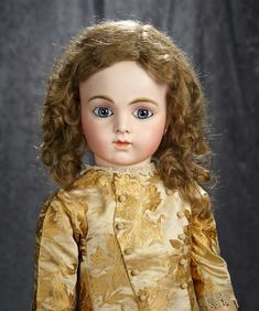 """29"""" Beautiful French bisque bebe by Leon Casimir Bru with splendid eyes. $6000/8500"""