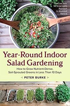 If you're ready to try indoor salad gardening, this is the book for you. It tells you all you need to know about growing microgreens at home indoors for fresh salads or smoothies year round. Aquaponics System, Hydroponics, Hydroponic Gardening, Aquaponics Diy, Aquaponics Greenhouse, Aeroponic System, Garden Shelves, Olive Garden, Veg Garden