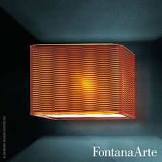 FontanaArte Lounge Wall Lamp with screen printed methacrylate diffuser in either a transparent or orange version. #FontanaArte #walllamp #CalviMerliniMoya  Available at allmodernoutlet.com  http://www.allmodernoutlet.com/fontanaarte-lounge-wall-lamp/