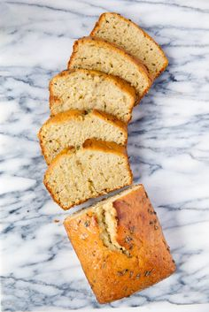 Lavender Banana Bread made with a lavender brown butter and lavender simple syrup. The result? A fragrant banana bread exploding with flavor.