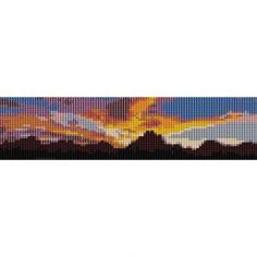 Loom Bead Patterns   MOUNTAINS IN SUNSET - LOOM beading pattern for cuff bracelet (buy any ...