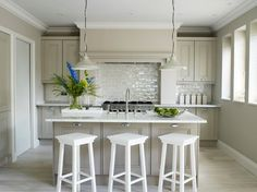 """The cabinet paint colour by Farrow And Ball - """"Elephant's Breath"""" No.229 :) Middleway, London transitional-kitchen"""