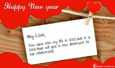New Year Romantic Wish Cards