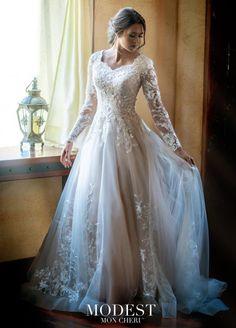 Mon Cheri TR11972 Beautiful Modest Wedding Dress