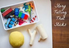 """If you love the Oliver Jeffers story """"Stuck,"""" then you'll love this story telling play dough prompt! (Little Moments)"""