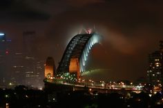 0912310323 - Mist over Sydney Harbour Bridge, Australia