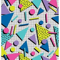80's Party Shapes Photo Backdrop *NEW