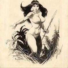 Unused Frazetta CANAVERAL Comic Art