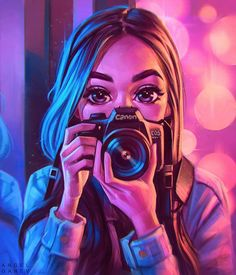 Digital Art Portrait ArtStation – Lights, Camera, Action 📸, Angel Ganev Related posts:from the ground up flowers field aesthetic photoNature Inspired Digital Art Anime, Digital Art Girl, Digital Portrait, Portrait Art, Drawing Portraits, Portrait Cartoon, Camera Drawing, Camera Art, Camera Tips