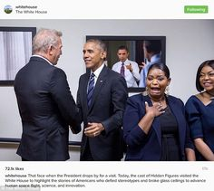Hunbled: Octavia Spencer couldn't contain her excitement when President Obama made a surpr...